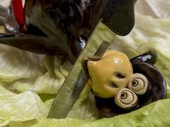 To Kill a Mocking Bird (me.behindthelens) Tags: myfavouritenovelfiction bird ornament knife macromondays