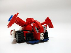 Knight Savior 005 [Lego Moc] (c_s417) Tags: lego moc future gpx cyber formula knight savior knightsavior 005 race car vehicle asurada gsx japanese animation