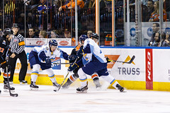 "Kansas City Mavericks vs. Toledo Walleye, January 20, 2018, Silverstein Eye Centers Arena, Independence, Missouri.  Photo: © John Howe / Howe Creative Photography, all rights reserved 2018. • <a style=""font-size:0.8em;"" href=""http://www.flickr.com/photos/134016632@N02/28060653419/"" target=""_blank"">View on Flickr</a>"