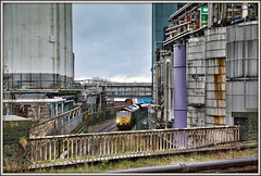 Post-industrial Shed-ism (david.hayes77) Tags: industry warrington warringtonbankquay cheshire wcml westcoastmainline coal freight class66 shed 66561 4v22 freightliner 2018 unilever fiddlersferrypowerstation northwest crosfields