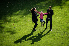 'Saturday, in the park ... ' (Canadapt) Tags: parents child man woman daughter park play shadows grass green fun laughter edinburgh scotland canadapt