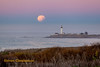 It's  A Little Bit Broken (Steven Christenson) Tags: california coast pacificocean pigeonpoint bloodmoon bluemoon lighthouse lunareclipse moonset shoreline supermoon