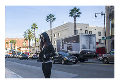 girl in leather jacket (philippe*) Tags: hollywood california urban street losangeles
