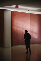 Wally (BurlapZack) Tags: pentaxk1 pentaxhddfa28105mmf3556eddcwr vscofilm pack01 dallastx farnorthdallas addisontx valleyviewmall deadmall zombiemall abandoned empty portrait silhouette shadow exit hallway locationscouting sunlight window tile red brick