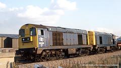 16/10/1981 - Shepcote Lane Junction, Sheffield, South Yorkshire. (53A Models) Tags: britishrail class20 20228 20005 diesel freight shepcotelanejunction sheffield southyorkshire train railway locomotive railroad