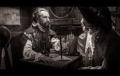 The Dragon & John Davis (Scott Smith (SRisonS)) Tags: johndavis robertsearle sirfrancisdrake staugustinepiratetreasuremuseum thedragon cinematic florida monochrome pirates staugustine