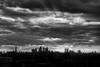 Black Hole Sun (sdupimages) Tags: couchédesoleil shadows silhouette noirblanc blackwhite horizon sunset bw nb cityscape paysage landscape monochrome nuages ciel sky clouds ville london londres