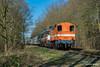 13/02/2018 | Leusden (SB-2013) Tags: rfo rail force one 9702 bakkie hippel pon ponlijn volkswagen blg trein goederentrein bos bomen 13 februari 2018 1831 1800 serie 600 ns nederland