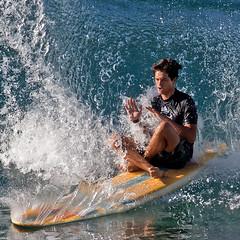 Ohm (RicoLeffanta) Tags: surf surfer surfing ohm splashdown water bubble swell man male splashing oh goodness buffalo keaulana big board surfboard classic makaha oahu hawaii rico leffanta