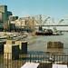 90l062: Louisville riverfront seen from near foot of Floyd Street