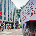 The NC State Bookstores found a temporary home right off the Brickyard in Harrelson Hall while Talley Student Union was being remodeled.