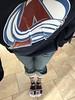 Wearing my Avs gear from last night. (f l a m i n g o) Tags: me feet socks hoodie sweatshirt sport team nhl avs avalanche