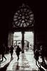 La rosace (d.cairn) Tags: la rosace contrejour vitrail cathédrale reims noiretblanc nb blackandwhite bw fujifilm xe2 xf23mmf2
