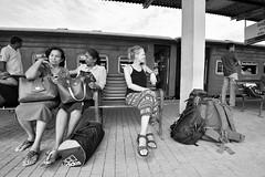 Sri_Lanka_17_400 (jjay69) Tags: srilanka ceylon asia indiansubcontinent tropical island buddhist galle galletrainstation platform travel travelling transport bw blackandwhite blackwhite monochrome singlecolour nocolour colourless grey withoutcolour