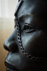 Out of Africa - Macro Mondays - My Favourite Novel (Fiction) (janetbland) Tags: macro mondays africa masai carving wood portrait head brown macromondays karenblixen novel isakdinesen kenya canon