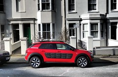 Citroen Cactus. (ManOfYorkshire) Tags: citroen c4 cactus car auto automobile suv small compact airbumps classic french design style red onstreet parked parking brighton sussex alloys