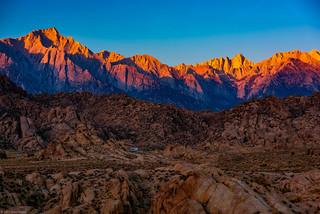 Sunrise Illuminating the Sierra