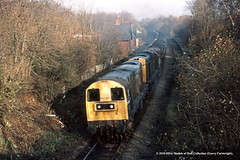 22/11/1982 - Maltby, South Yorkshire. (53A Models) Tags: britishrail class20 20154 20011 diesel freight maltby southyorkshire train railway locomotive railroad