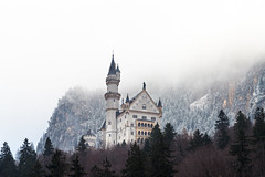 Winter Castle (redfurwolf) Tags: neuschwanstein castle building architecture mountain mist landscape nature outdoor trees snow sky rocks tower redfurwolf sony a7riii sal70200f28gii mirrorless germany bavaria alps