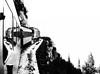 On the Edge (Skeptiq_1) Tags: photo photography photos black white bw whiteblack blackwhite monotone day light train cliff mountain whitepassandyukonrr alaska landscape edge