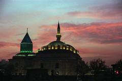 Mevlana Museum after sunset (Arman.G) Tags: konya filmphotography turkey fujifilm canonftb