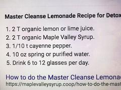 Master Cleanse Lemonade for Detox (Alan Taylor - ERN) Tags: alantaylor ern 2017 detox cleanse lemonade maplesyrup lemonjuice limejuice cayennepepper water 2018