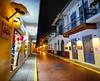Old Town in Panama City, Panama (` Toshio ') Tags: toshio panamacity panama cascoviejo oldtown shop hat souvenier street city night centralamerica fujixt2 xt2 sombrero