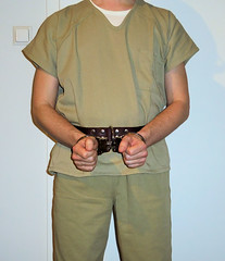 prisoner transport belt (rainerzufall1234) Tags: handcuffs handcuffed prisoner restraints shackles chains uniform inmate jail prison arrested arrest