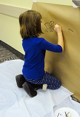 Homeschool art: Prehistoric cave painting (Geauga County Public Library) Tags: painting cave children childrens kids kidsinlibrary youth youthprograms youthservices art crafts