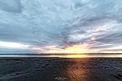 Wet Sunset. (j૯αท ʍ૮ℓαท૯) Tags: sunset france south sud gard grau du roi colorful colors sun landscape seascape sea sky darksky