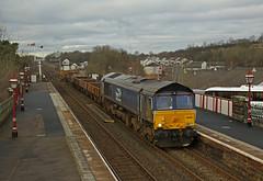 Appleby Station (DieselDude321) Tags: 66305 class 66 drs direct rail services 6k05 1246 carlisle ny crewe basford hall ssm appleby station applebyinwestmorland cumbria