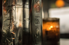 London in glass (OzzRod) Tags: pentax k3 hdpentaxda35mmf28macrolimited closeup glass bottle lettering texture dailyinfebruary2018