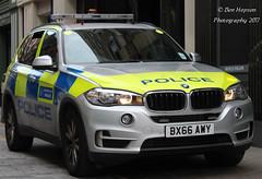 BX66 AWY (Ben Hopson) Tags: metropolitan mer police bmw x5 arv armed response vehicle london base blue lights orange beacons 2016 bx66awy