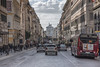 Via Nazionale (biktoras07) Tags: italy italia rome roma via nazionale street cars vehicle bus people vittorioemanueleii vittoriano clouds sky white blue constrution architecture shops victorsantos winter outdoor outside city capital