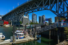 Granville Island - False Creek (SonjaPetersonPh♡tography) Tags: vancouver bc britishcolumbia burrardinlet cambiestreetbridge granvilleisland granvilleislandmarina granvillestreetbridge granvilleislandpublicmarket canada nikon nikond5200 inlet ocean boating aquabus falsecreek falsecreekferries bcplacestadium waterscape cityscape vancouverskyline vancouverharbour downtownvancouver