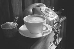 Retro coffee shop (Jim Davies) Tags: bláskógabyggð iceland travel 35mm film analogue veebotique analog photography filmfilmforever 35mmfilm blackandwhitefilm europe february 2017 pentax espioafzoom compact zoom believeinfilm 100asa agfa apx bw monochrome