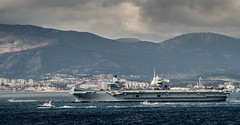 HMS Queen Elizabeth departing Gibraltar Feb 2018 (David Parody) Tags: