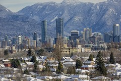 Skyline (Clayton Perry Photoworks) Tags: vancouver bc canada winter explorebc explorecanada snow mountains skyline buildings