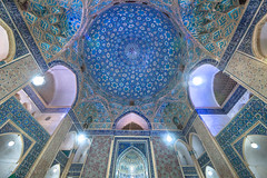 Jameh Mosque, Yazd, Iran (Feng Wei Photography) Tags: islamicculture persianculture middleeast ceiling spirituality yazd persian landmark builtstructure indoors colorimage illuminated placeofworship dome islamic nopeople mosque famousplace tranquilscene iran iranianculture travel islam night jamehmosque architecture traveldestinations art horizontal ornate tourism irn