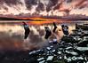 Ladysmith Sunrise | February 2018 (pklopper) Tags: yellow clouds drama ladysmith nature snow ocean boat ship vancouverisland petrusklopper nikon pk1photos sunrise colourful