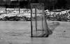Memories of hard fought games (Kat Hatt) Tags: hockeynet net outside ice newburgh roughice hockey dirty snow hockeygame mono spring february