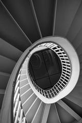 Akademie #4 (madmtbmax) Tags: stairway fibonacci spiral stairs blackandwhite black white schwarzweiss schwarz weiss blanco negro bianco nero zwart wit vit svart geometry abstract contrast art artistic kunst nikon d850 creative