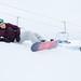 Snowboarder on the top of Tahko slopes