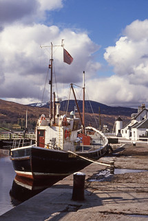 'Wescol' (stern) at Corpach. Apr 1988.