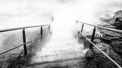 Chaos : Tartarus (The Black Fury) Tags: storm blackandwhite bw sea seascape water light fog art waves rain canon rock monochrome coast longexposure