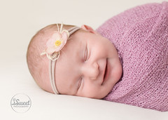 Boston newborn photographers | smiling babies (iSweet Photography) Tags: boston babies newborns bostonnewbornphotographers isabelsweet isweetphotographer babygirl smile happy sweet face portrait pink headband