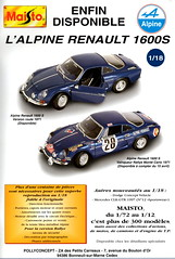 Alpine-Renault A110 1600S (Maisto 1:18) (andreboeni) Tags: classic car automobile cars automobiles voitures autos automobili classique voiture rétro retro auto oldtimer klassik classica classico publicity advert advertising advertisement renault alpine a110 1600s 118 maisto model miniature 143 scale modellauto models miniatures modell collection renaultalpine alpinerenault rally montecarlo rallye