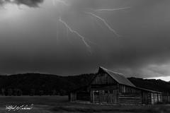 Lightning Over Moulton Barn_27A1142 (Alfred J. Lockwood Photography) Tags: alfredjlockwood nature landscape lightening thunderstorm tamoultonbarn grandtetonnationalpark summer evening clouds wyoming