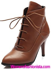 Summerwhisper Women's Sexy Pointed Toe Lace-up Booties Stiletto High Heel Platform Short Ankle Boots Shoes Brown 11 B(M) US (womensfashionista) Tags: 11 ankle bm booties boots brown heel high laceup platform pointed sexy shoes short stiletto summerwhisper toe womens