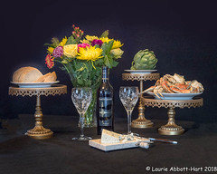 """20180114SF Charm7003-Edit-Edit (Laurie2123) Tags: 52weeksof2018 laurieabbotthartphotography laurieturnerphotography laurie2123 food wine cheese flowers againstblack crab stuartcrystal artichoke bread """"san francisco"""